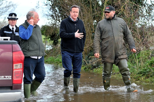 David Cameron with Ian Liddell-Grainge MPr. Could the floods have been tempered? Photo: Getty Images.