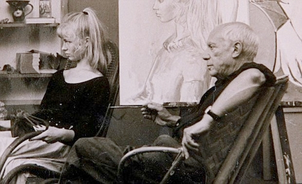 Artist Lydia Corbett who modelled for Pablo Picasso in the early sixties