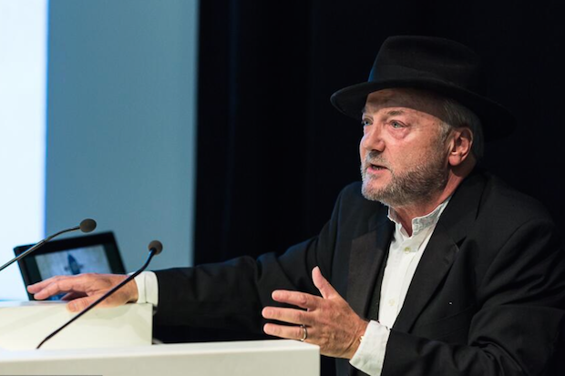 George Galloway speaking at the Spectator's debate on Scottish independence. Photo: Jonathon Fowler