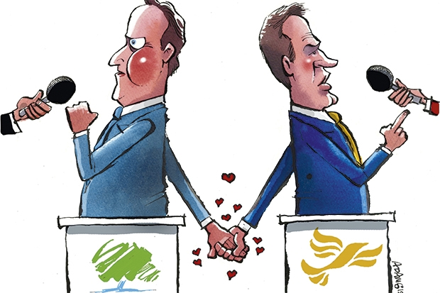 He'll never admit it, but David Cameron is already plotting another deal with Nick Clegg