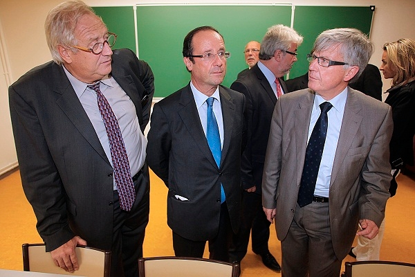 On the right in this picture - Yves Daudigny, the man who proposed the Nutella Tax in France. Image: Getty