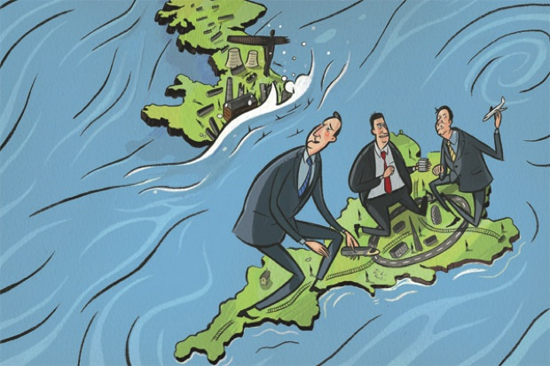 Lord Howell's comments will create a debate over the North-South divide. Illustration: Stephen Collins.