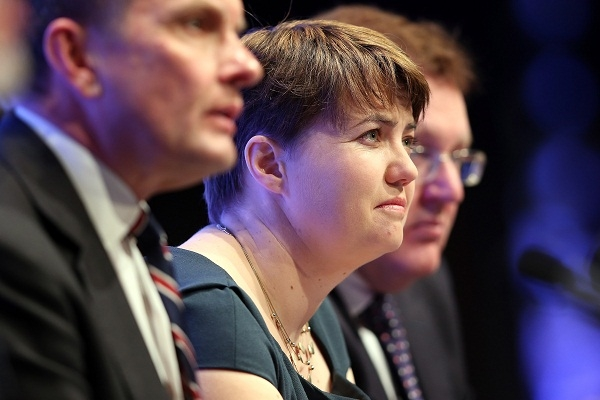Tory Ruth Davidson decided that the recalictrant Scots needed telling some home truths. Image: Getty.