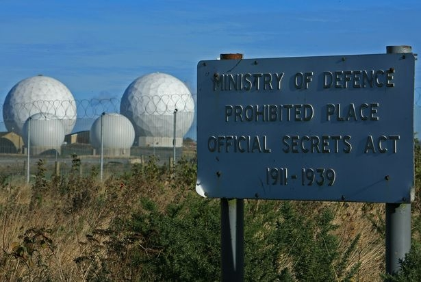 The 'secret' American eavesdropping base at RAF Menwith Hill in Yorkshire. Image: Getty