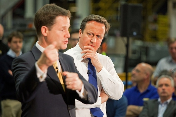Cameron and Clegg and the rest of the Quad discussed options for the mid-term review