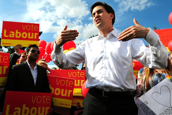 Ed welcomes in the Northamptonshire voters. Photo: PA
