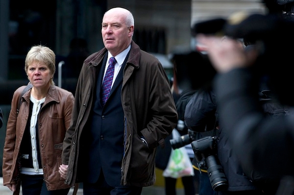 Bob and Sally Dowler, the parents of murdered schoolgirl Milly Dowler, arrive to attend the publication of the Leveson report. Picture: Getty