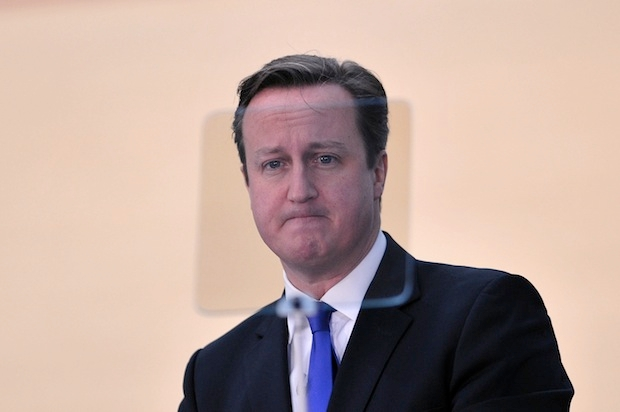 David Cameron delivering his speech on Scottish independence in February. Picture: Getty