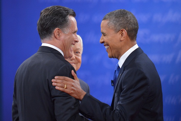 Would you vote for Mitt Romney or Barack Obama tomorrow? Image: Getty