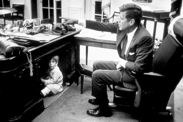 John Kennedy Jr. playing in the Oval Office a month before JFK's death