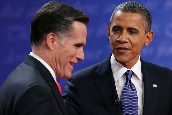 After the first presidential debate, Mitt Romney has closed the gap to Barack Obama in the polls. Picture: Getty Images