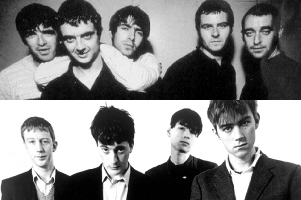 Blur and Oasis at the height of their fame.
