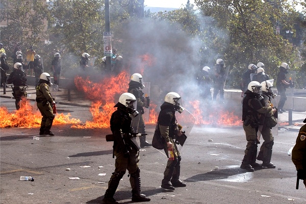 Does the violence on the streets of Athens presage wider conflict? Image: Getty.