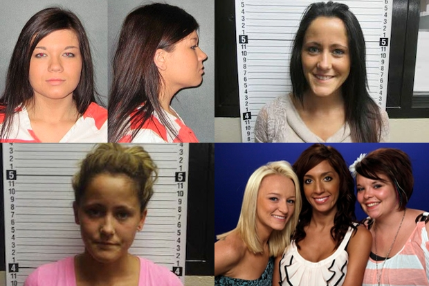 From top left: Amber Portwood, Jenelle Evans, and Farrah Abraham (centre). Images: Getty/PA