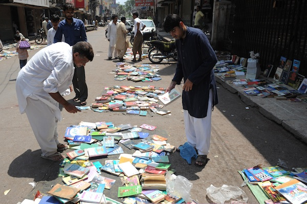 A book market held every Sunday in Karachi.  Image: Getty