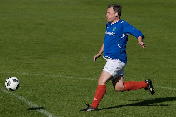 Ed Balls, a competitive force on the football pitch, believes he is winning on the benefits argument, too. Picture: Getty