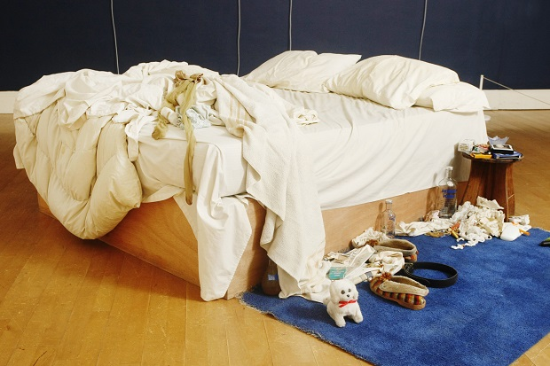 'My Bed', Tracey Emin's most notorious work of art, is for sale. (Ed Jones/AFP/Getty Images)