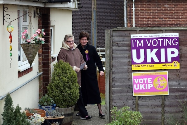 UKIP campaigned heavily on immigration in Eastleigh. Picture: Getty