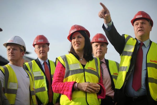 Members of the Labour Shadow Cabinet on a visit during their party conference in Manchester. Picture: Getty