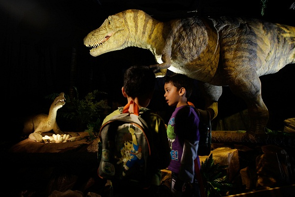 Children at the Natural History Museum. Image: Getty