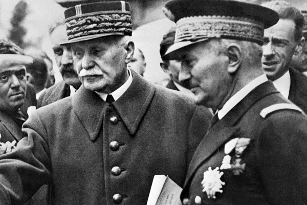Admiral Darlan (R) pictured with Marshal Petain, months before his assassination in December 1942. Image: Getty