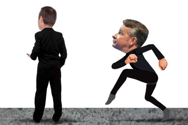 Labour is keen to paint Michael Gove as a pantomime villain. Picture: Carla Millar.