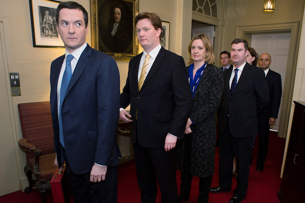 George Osborne and his Treasury team. Photo: Stefan Rousseau - WPA Pool /Getty Images