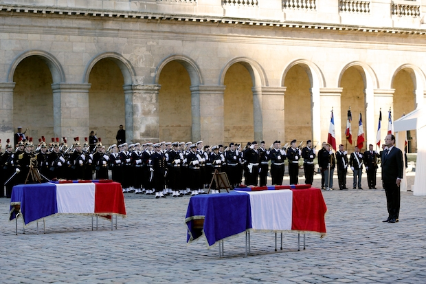 You won't see many coffins draped with the EU flag. Image: Getty