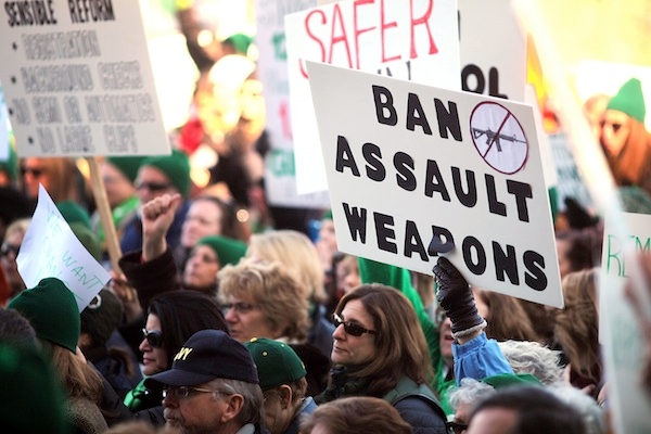 A rally for a ban on assault weapons; but what exactly is an 'assault weapon'? Image: Getty