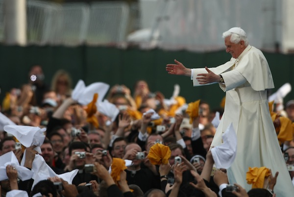 Pope Benedict on a visit to New York in 2008. Under Benedict, the power of America in the Holy See has increased dramatically. Picture: Getty