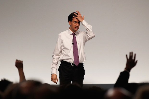 Labour leader Ed Miliband addresses delegates at his party's 2011 conference. Image: Getty