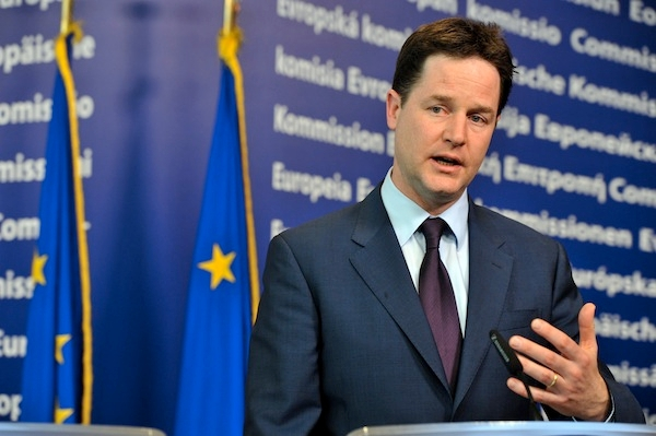 Does Nick Clegg need to shift his position on Europe? Photo: Getty Images.