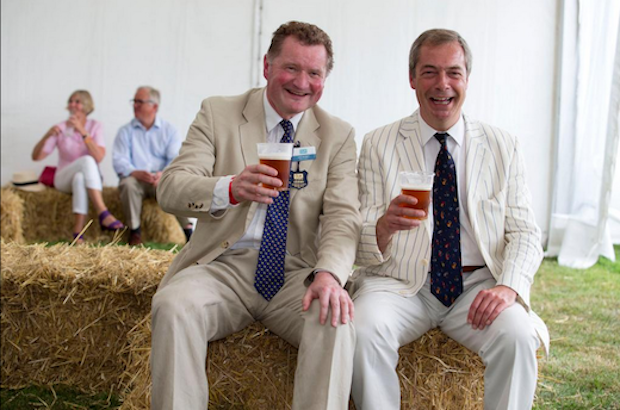 Nigel Farage and Ross Murray of the CLA at the Game Fair. Image: Twitter, @TheGameFair