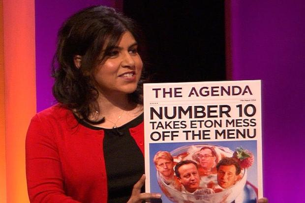 Sayeeda Warsi's comments on Old Etonians in No.10 have caused a stir. Photo: ITV.