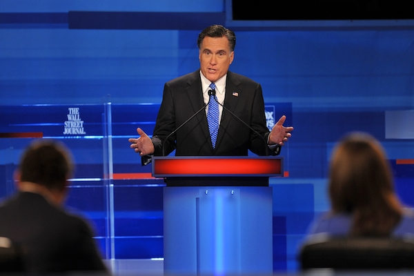 Mitt Romney will debate President Obama for the first time in Denver, Colorado tonight. Picture: Getty Images.