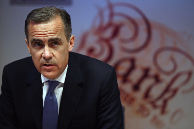Governor of the Bank of England Mark Carney. Image: Getty