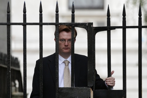 Chief Secretary to the Treasury Danny Alexander in Downing Street