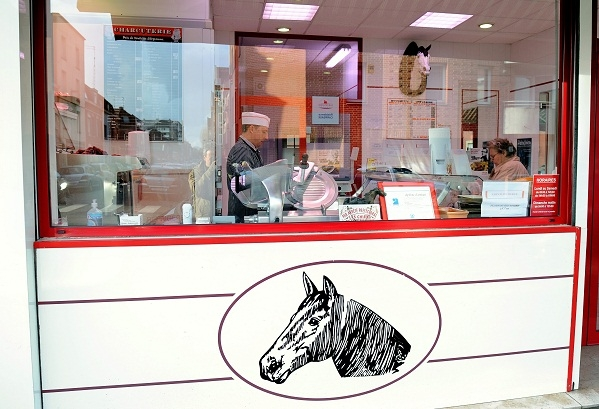 Horsemeat for sale in a French butchers last week. Image: Getty