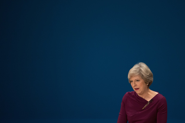 May's head on the block