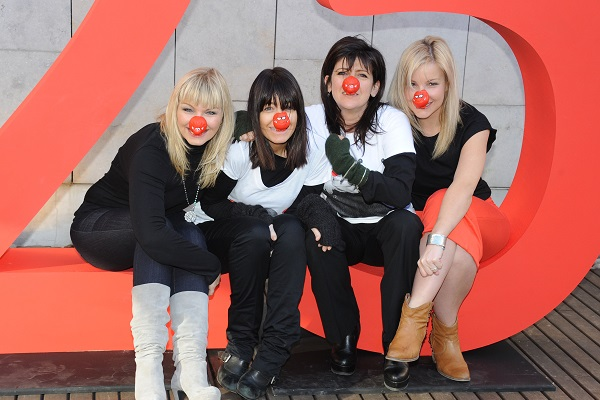 Kate Thorton, Claudia Winkleman, Emma Freud and Helen Skelton attend a photocall to celebrate 25 years of Red Nose Day for Comic Relief. (Photo by Stuart Wilson/Getty Images)