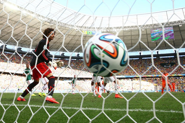 Netherlands v Mexico at round of 16 of the 2014 World Cup. Photo: Getty Images.