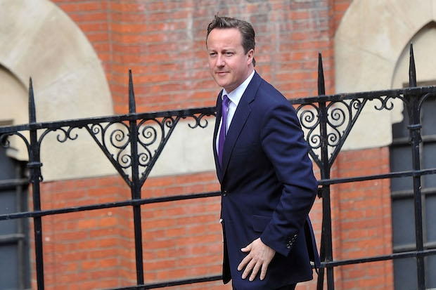 David Cameron on his way to give evidence to the Leveson Inquiry. Image: Getty