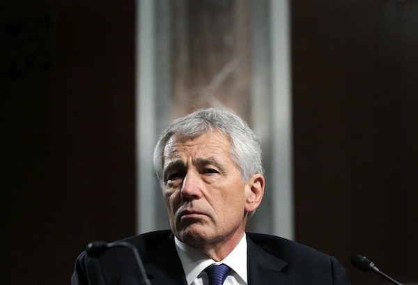 Chuck Hagel testifies before the Senate Armed Services Committee during his confirmation hearing to become the next secretary of defense. Picture: Getty