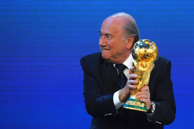 Fifa President Sepp Blatter announces in 2010 that Qatar will host the World Cup in 2022 (Photo: Laurence Griffiths/Fifa via Getty)