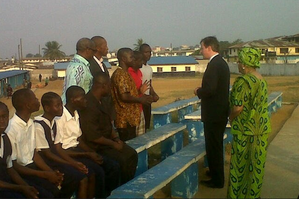 Cameron in Monrovia this morning, one of the many pictures from his Africa tour being Tweeted out by No10.