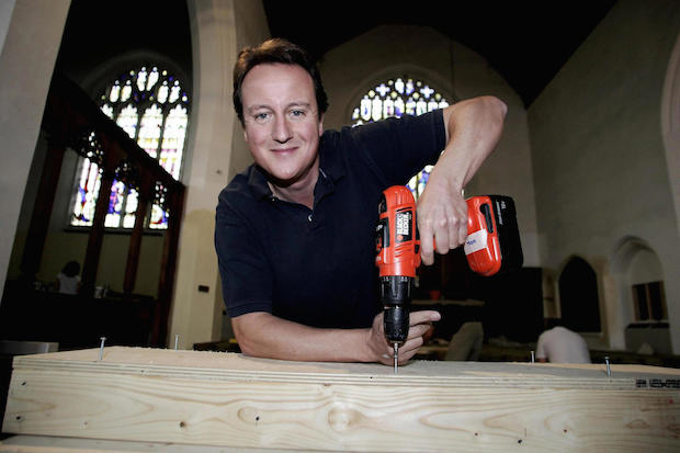 David Cameron at St Mary's Church, Bournemouth. Photo: PARSONS/AFP/Getty Images