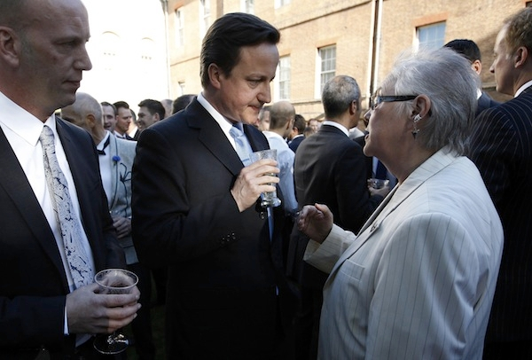 David Cameron speaking to guests at a Gay Pride reception in Downing Street. Picture: Getty