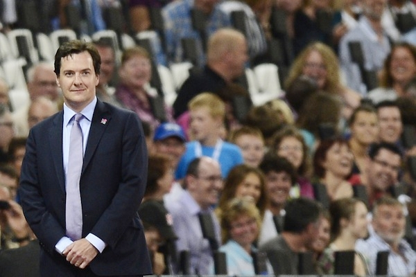George Osborne is booed by spectators as he waits to present medals at the Paralympic games. Picture: LEON NEAL/AFP/GettyImages.