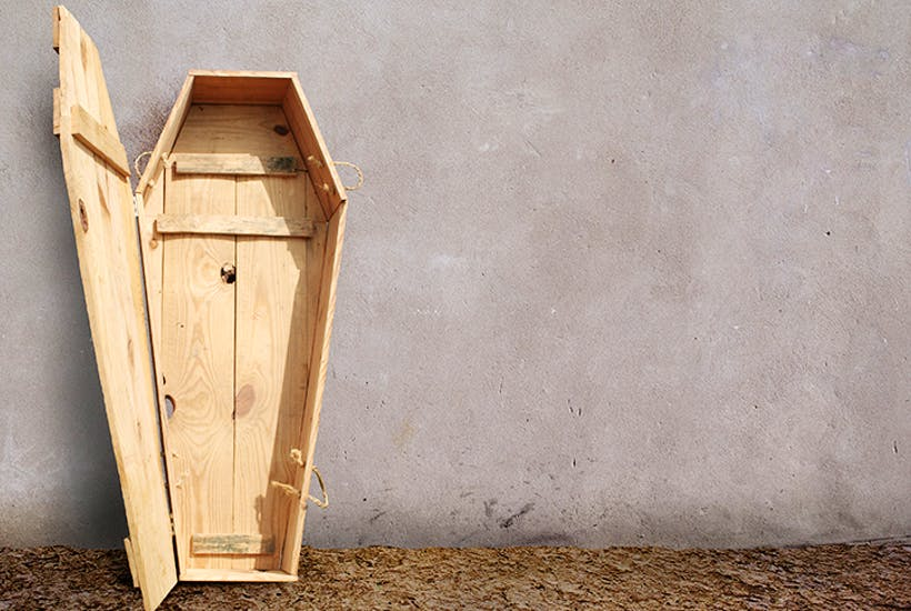 The comfort of building your own coffin