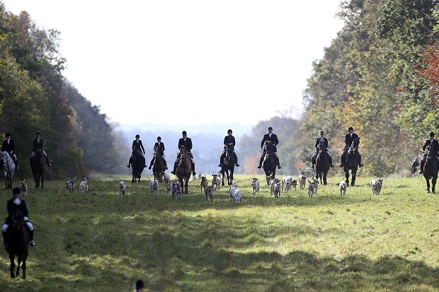 The Duke Of Beaufort's Hunt Holds The Opening Meet Of The Season